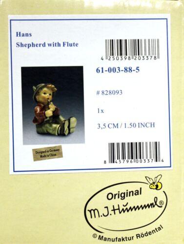 M I Hummel Shepherd w//Flute Mini Figurine 828093 NEW BOX Children Nativity