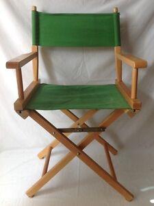 vintage wooden folding directors chair green elrods ebay