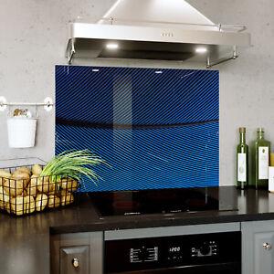 Splashback En Verre Cuisine Cuisinière à Rayures Tissu Angle Connexion Toute Taille 0481-afficher Le Titre D'origine Un Style Actuel