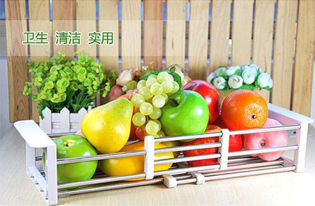 Kitchen Sink Storage Dish Drying Rack Holder Fruit Vegetable Drainer Colanders