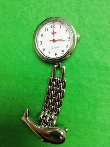 Nurse-WATCH-Fob-Watch-Brooch-With-FREE-SPARE-BATTERY