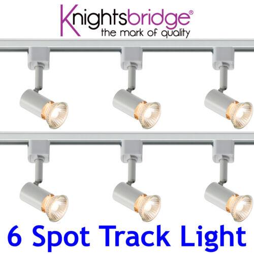 Knightsbridge circuit unique 6x spot Track Éclairage DEL Spot Light 3 Mètre Blanc