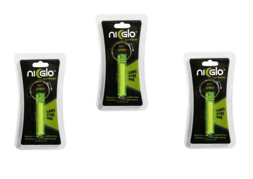 3er-Set NI-GLO Safety Marker lime Erdkristalle ohne radioaktives Tritium TOP EDC