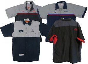 Red-Kap-Mechanic-Technician-Uniform-Mens-Work-Shirts-Automotive-Dealership