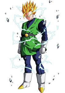 Sticker poster manga dragon ball z sangohan super sayan 2 - Sangohan ado super sayen 3 ...