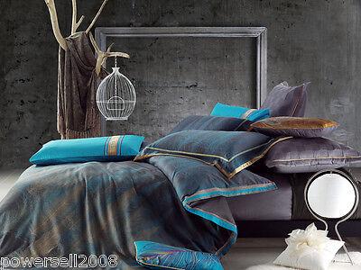 Comfortable Cotton Flowers Pattern Multicolour King Size 4-Pieces Home Bedding