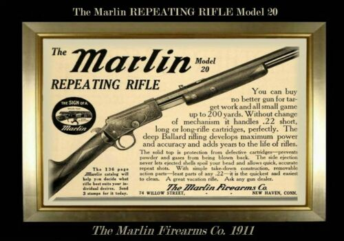 MAGNET Firearms Ad Marlin Firearms  Repeating Rifle Model 20 1911 Photo Magnet