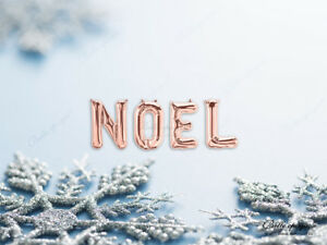 NOEL-Christmas-Balloons-Banner-Garland-PARTY-ROSE-GOLD-SILVER-Home-Decor