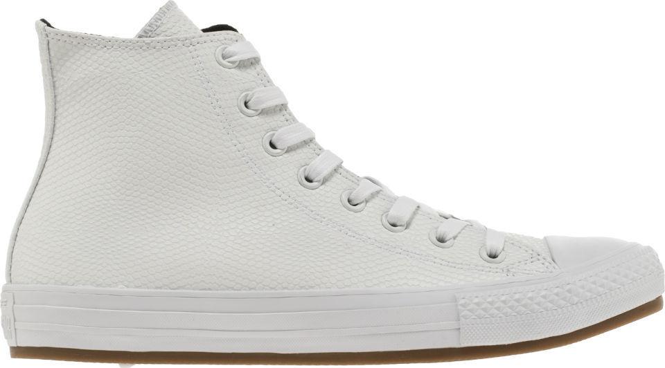 Converse All Star CT Hi Cuero De Pitón Zapatos Para Hombres blancoo Gum 155269C tamaño 10.5 Ne