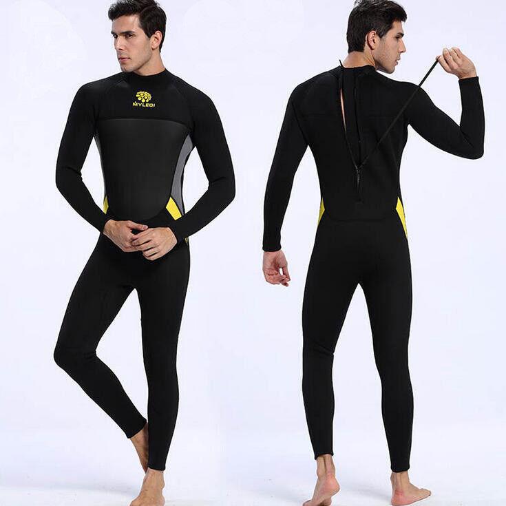 Mode Herren 3MM Jumpsuit Tauchanzug Surf Surf Surf Wetsuit Neoprenanzug Langarm S-3XL 08f593