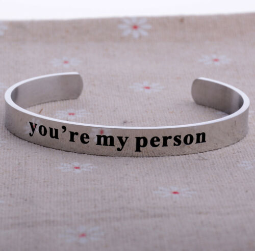 Inspirational Bracelets For Women Engraved Personalized Mantra Cuff Bangle Gifts