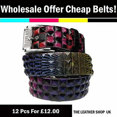 100% Vero Wholesale Joblot Mixed Sizes Fashion Studded Belt 12 Pcs Clearance Offer Pf50 Portare Più Convenienza Per Le Persone Nella Loro Vita Quotidiana