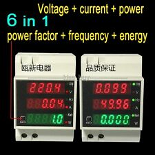 100A Digital AC Voltmeter ammeter + power factor + active + energy + frequency