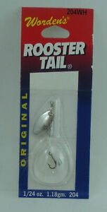 Wordens 204-WH Rooster Tail Spinner 1/24 oz. White 25482