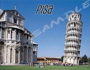 LEANING TOWER OF PISA - ITALY - Travel Souvenir Flexible Fridge Magnet