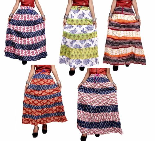 Apparels India 10Pcs Hippie Boho USA Gypsy Cotton Patchwork Skirt Wholesale Lot