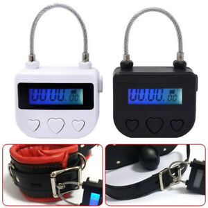USB-Rechargeable-Electronic-Timer-Lock-For-Ankle-Handcuffs-Mouth-Gag-Black-New