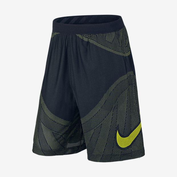 Nike Flyknit Hombre NEGRO Shorts de Fútbol M NEGRO Hombre Volt Casual  Gimnasio 490727 4ffa034489caa