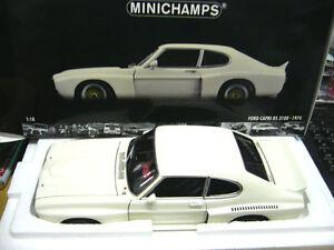 1-18-Minichamps-Ford-Capri-RS-3100-1974-Blanco-lmtd-EDITION-1000-ST-Mundial