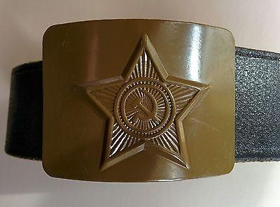 Original Soviet Russian Military Soldier Army Belt and Buckle Uniform Surplus