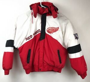 Detroit Red Wings Unisex Adult Pro Player Jacket Multicolor Hooded Zip Lined XL