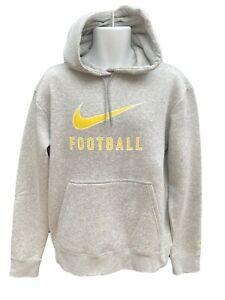 Nouveau-Nike-Vintage-Tiempo-Football-Coton-Fleece-Hoodies-Gris-MEDIUM