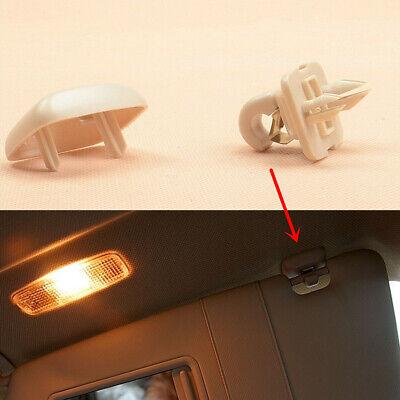For AUDI A3 A4 B7 B8 A5 Q3 Q5 TT Interior Sun Visor Clip Hook Bracket Gray