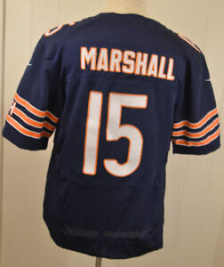 Details about Nike Chicago Bears Jersey #15 Brandon Marshall Mens 44 Blue NFL Authentic Sewn