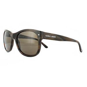 d04c83c5e6f Image is loading Giorgio-Armani-Sunglasses-AR8008-502353-Striped-Brown-Brown