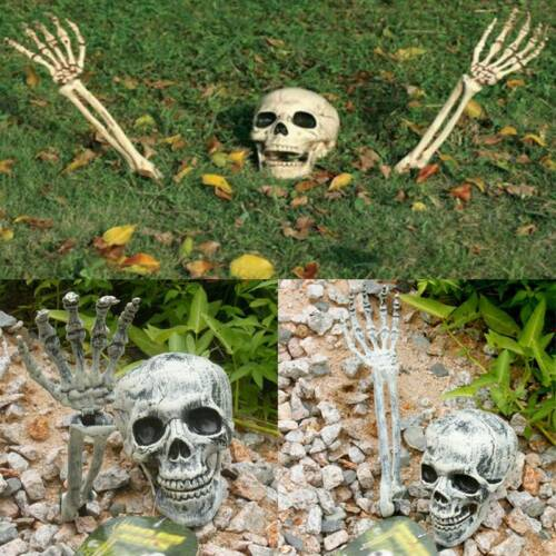 Halloween Horror Head Bones Skeleton Decorations Scary Skull Hand- UK Stock