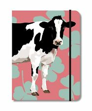 Pewter Beef Cow Design A6 Notebook Pocket Size Notepad Ideal Farming Gift 030