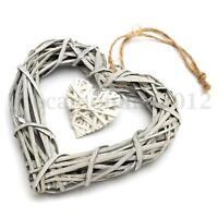 Wicker Heart Shabby Chic Wreath Wall Hanging House Wedding Birthday Party Decor