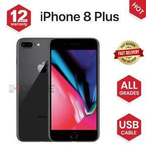 Apple iPhone 8 PLUS - 64GB/256GB -Gold/Black/ Silver - UNLOCKED - Various Grades