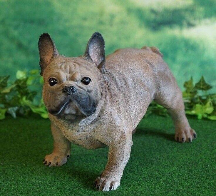 Figur Hund französische Bulldogge Lebensecht Tierfigur Dekofigur Skulptur Skulptur Skulptur Garten 33574a