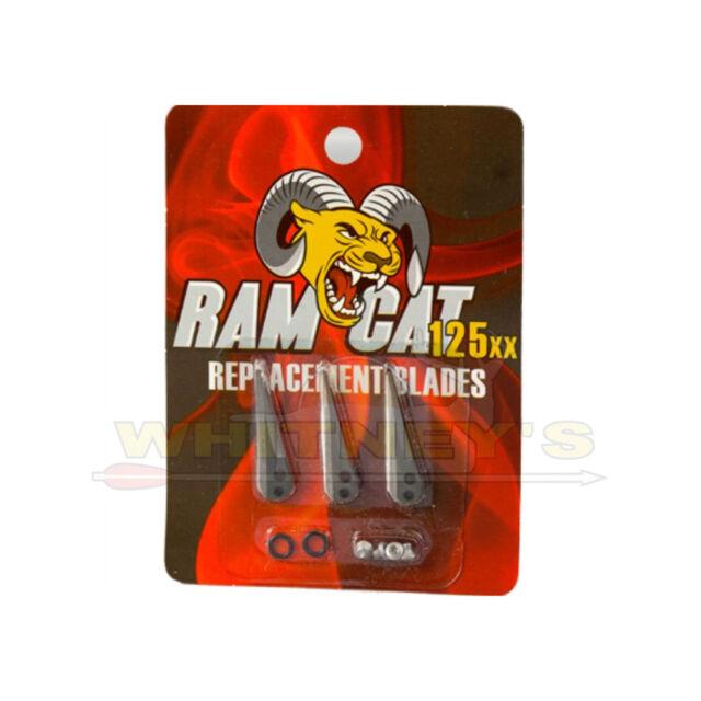 100//125 Grain Ramcat Practice Blades Silver