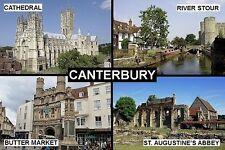 SOUVENIR FRIDGE MAGNET of CANTERBURY ENGLAND