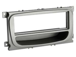 1-DIN-Radio-Faceplate-with-Storage-Shelf-Ford-Focus-Mondeo-Silver