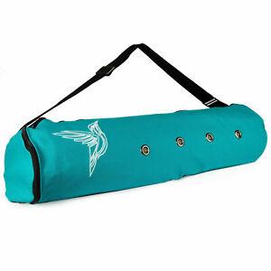 Yoga Mat Carrier Bag Strap Adjustable Shoulder Tote Exercise Gym Bags Zip Pocket