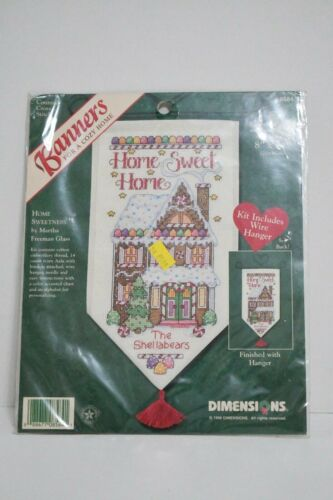 Dimensions Banners for a cozy home cross stitch Home Sweet Home Personalize New