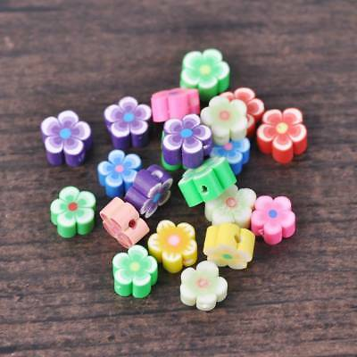 Free Ship 100Pcs Mixed Polymer Fimo Clay Fruit Spacer Beads Jewelry Making