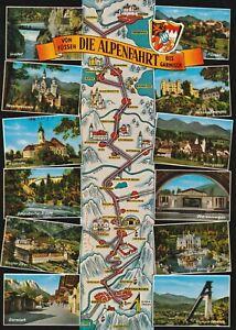 AK MAP, Landkarte, Umgebungskarte **DIE ALPENFAHRT** - Oberfranken, Deutschland - AK MAP, Landkarte, Umgebungskarte **DIE ALPENFAHRT** - Oberfranken, Deutschland
