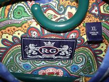 RG ROBERT GRAHAM LONDON-NEW YORK MENS BUTTON FRONT BLUE PLAID SHIRT SZ XL
