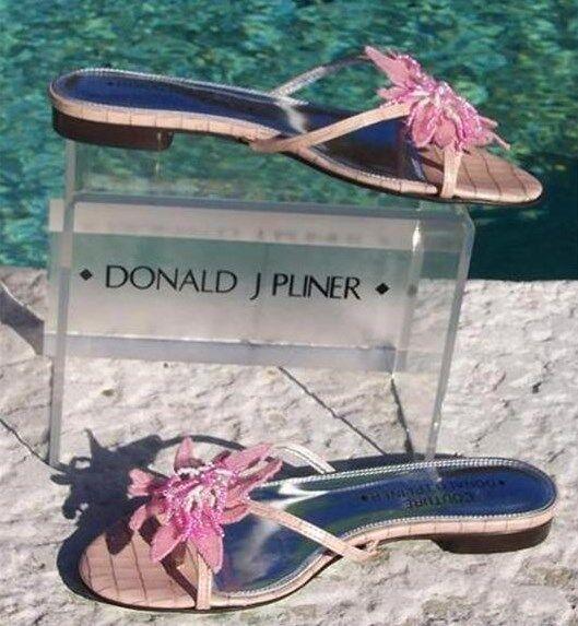 buona reputazione Donald Pliner Couture Kogi Gator Leather scarpe New Sz 6 6 6 Rhinestone Bead  250 NIB  a buon mercato