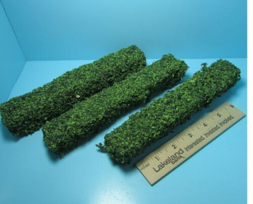 Dollhouse Miniature Outdoor Long Border Hedges Green Set of 3 CAHGSM