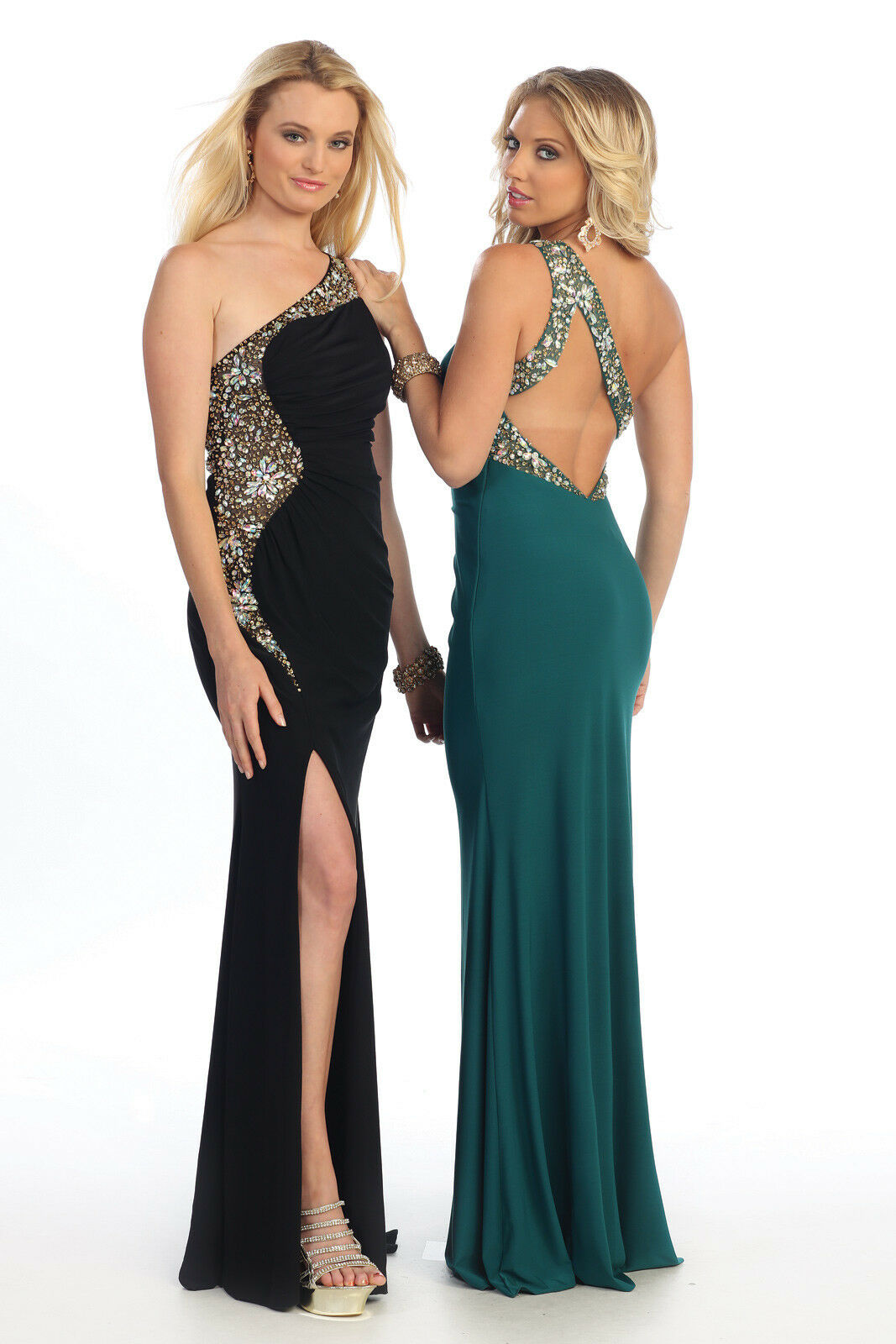 Sexy Stretchy Gown Prom Dress Gala Pageant Formal Formal Formal Occasion Party Teal Green 14 f39903