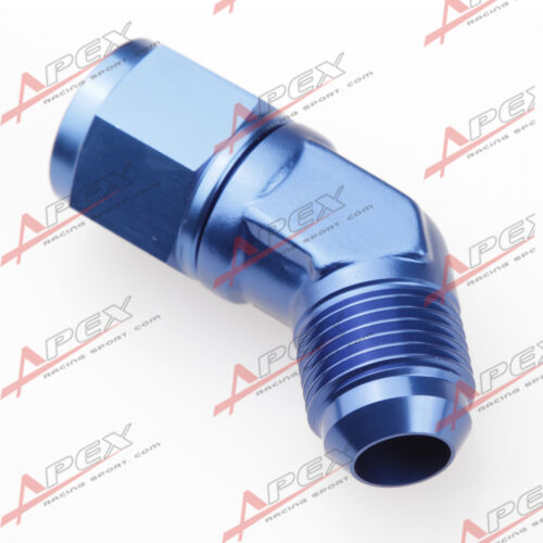 AN10 AN-10 10AN 45 Degree Female To Male Aluminum Fittings Adapter Blue