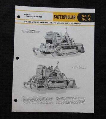 Caterpillar 977 H Crawler Loader Traxcavator For 1962 Dealer/'s Brochure AMIL16