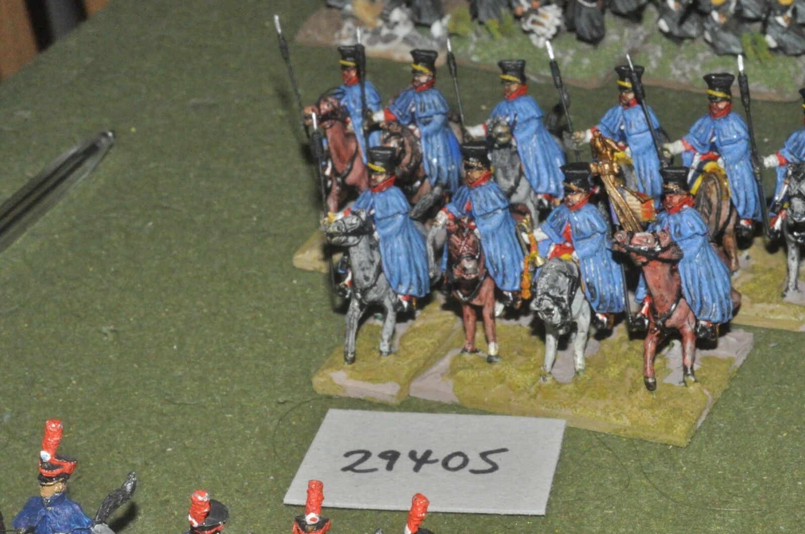 25mm napoleonic   french - lancers 10 figures - cav (29405)