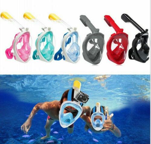 Anti Full Face Snorkel Mask Breath Diving Snorkling Set Kid Adult For GoPro UK