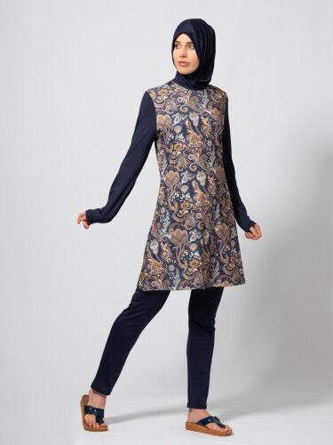 Swimwear Hijab,Badeanzug Tesettür Mayo M-856 Hasema Burkini Bademode